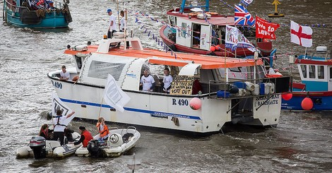 The Leave campaign's flotilla of boats: microcosm of the Brexit debate
