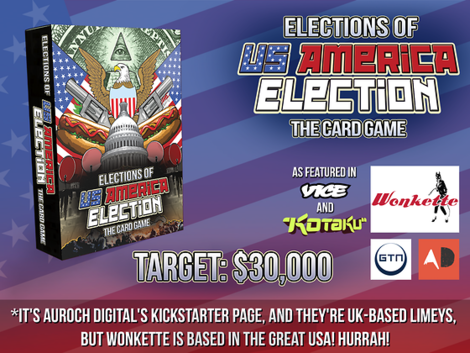 Die US-Wahl als Kartenspiel – für 22.151,06 Euro