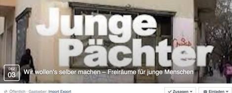 "Empfehlung: ""Junge Pächter"" – Podiumsdiskussion am 03.12.2015 im Import Export"