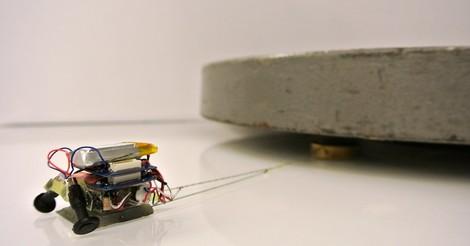 Die Welt der Microroboter: 6 Ameisen-Roboter (Gesamtgewicht ca. 100gr) ziehen ein Auto. Wow.