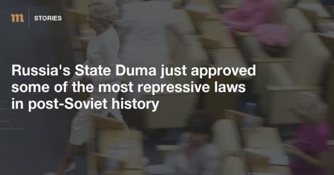 Repressive Gesetze in Russland: Duma schafft das Internet ab