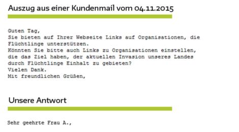 """Coole Antwort der GLS-Bank auf Mail """"besorgter"""" Kundin"""
