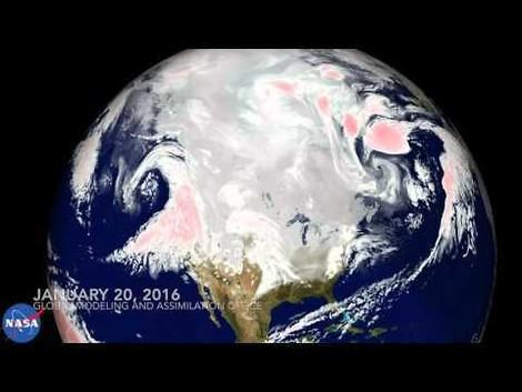 Die Schönheit einer Schneefront