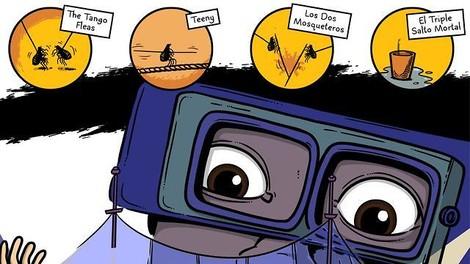 Am Ende dieser Comicreportage steht ein animierter Weberknechtpenis.