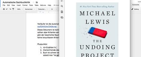 """""""The Undoing Project"""" und der Beginn einer Automatischen Sachbuchkritik"""