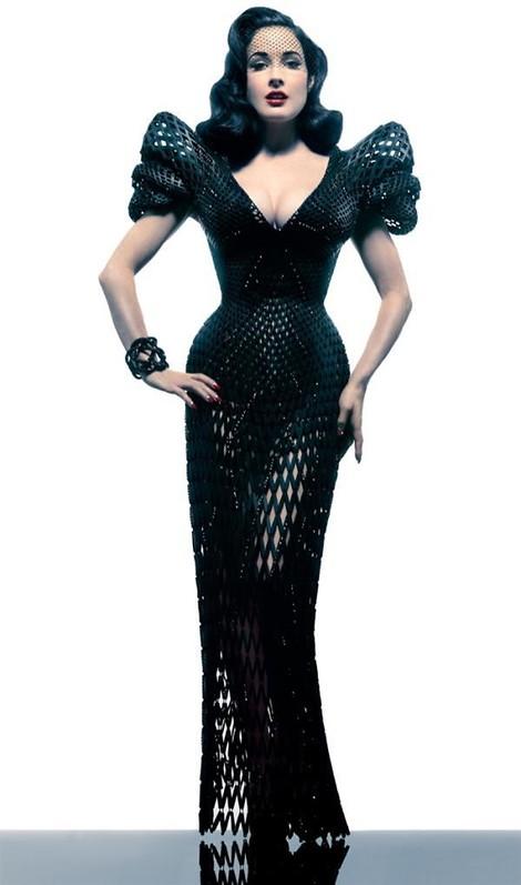 Mode und Technologie - die Mischung schafft verrückte Ergebnisse. Beispiel: 3D-gedruckte Kleider!