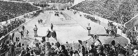 Die olympischen Spiele 1896