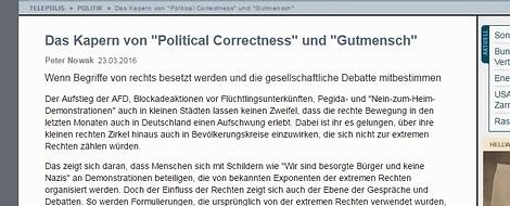 """Das Kapern von """"Political Correctness"""" und """"Gutmensch"""""""