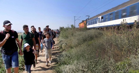 Eine syrische Familie flieht in die Niederlande