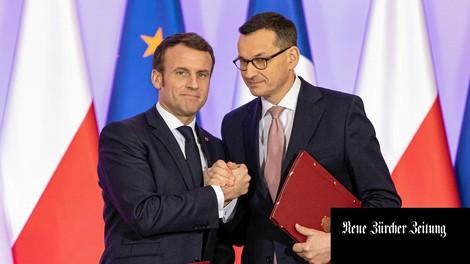 Macron in Warschau: Das große Schweigen zwischen West und Ost
