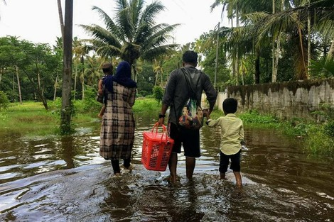 Stürme und Fluten vertreiben mittlerweile Millionen Menschen