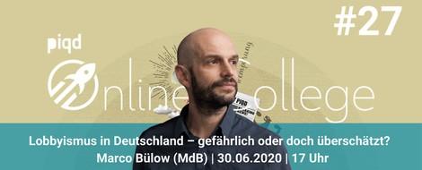 Lobbyismus in Deutschland – gefährlich oder doch überschätzt? | Marco Bülow | 30.06.2020 | 17 Uhr