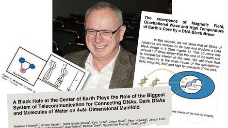 Arzt hat 2.500 Paper, eins davon über schwarzes Loch in der Erde