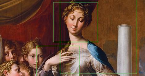 Madonna mit Kaugummi-Hals - Interaktiv Manierismus verstehen